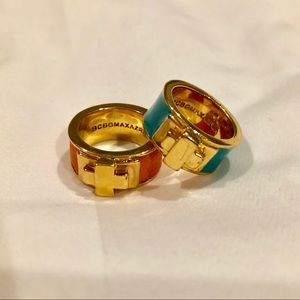 Set of 2 BCBG MaxAzria gold rings